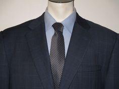 Men's Hickey Freeman Twill Blue Sport Coat Blazer - 46R - 100% Wool - 2 Button #HickeyFreeman #TwoButton