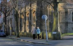 A corner of Trinity church, Hill Road, Sutton Hidden London, Corner, Street View, History, Historia