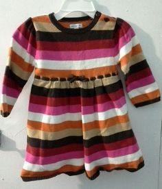 c3f718820 Baby Gap Girls Dress12 - 18 months mo Knit Multi-Colored striped toddler  baby #