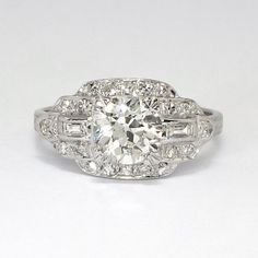 This sensational Circa 1930s platinum and diamond ring can be worn on any finger, for any occasion, and is an incredible value. A beautiful