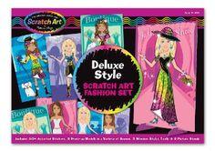 Melissa & Doug - Scratchin' Fashion® Dress-Up Stickers Deluxe Boxed Set - Modeset: Amazon.de: Spielzeug