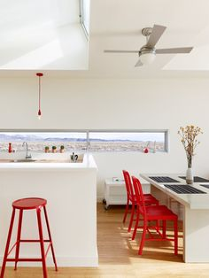 Rondolino Residence, Nevada, 2010 by Nottoscale #architecture #design #interiors #kitchen #red