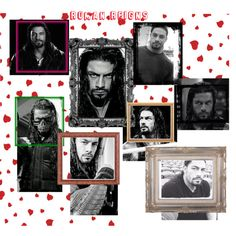 Roman Reigns hearts by telley-m-jay on Polyvore featuring art