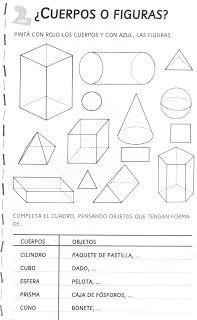 ACTIVIDADES FOTOCOPIABLES PARA NIVEL PRIMARIO: Geometría- cuerpos-figuras-líneas 1st Grade Math, Math Class, Math For Kids, Jewellery Display, Geometry, Classroom, Teaching, Activities, How To Plan