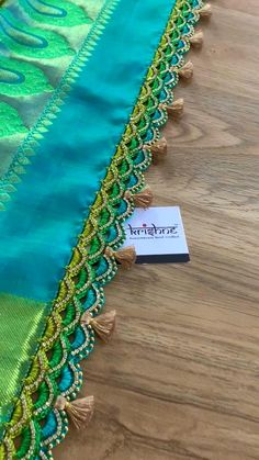 Saree Kuchu New Designs, Cotton Saree Blouse Designs, Saree Tassels Designs, Fancy Blouse Designs, Bridal Blouse Designs, Mehndi Designs, Hand Embroidery Patterns Flowers, Hand Embroidery Videos, Embroidery Designs