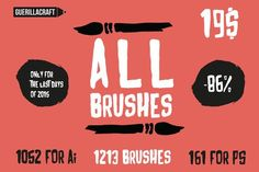 Graphic Design - Graphic Design Ideas  - ALL Brushes By Guerillacraft by Guerillacraft on Creative Market   Graphic Design Ideas :     – Picture :     – Description  ALL Brushes By Guerillacraft by Guerillacraft on Creative Market  -Read More –