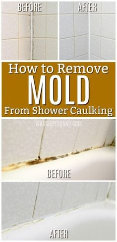 to Get Rid of Mold in Caulking - Remove Mold in Bathroom bathtub shower Beyond Easy Bathroom Cleaning Hacks To Destroy Disgusting Stains How to Get Rid of Mold in Caulking …Is your shower caulking showing signs of mold? Check out these tips Bathroom Cleaning Hacks, Household Cleaning Tips, Deep Cleaning Tips, House Cleaning Tips, Diy Cleaning Products, Cleaning Solutions, Shower Cleaning Tips, Spring Cleaning Bathroom, Shower Tips