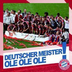 Deutscher Meister Ole Ole Ole!! @FCBayern Champs!!! pic.twitter.com/kl0X2BELrb