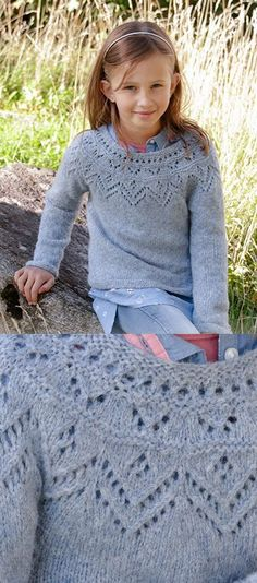 20+ Free Children's Knitting Patterns to Download Now! Free Childrens Knitting Patterns, Sweater Knitting Patterns, Knitting For Kids, Knitting For Beginners, Lace Knitting, Knit Crochet, Crochet Pattern, Patons Classic Wool, Girls Sweaters