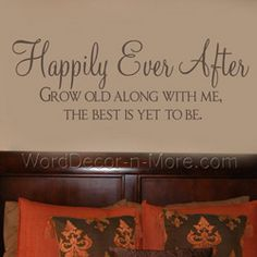 SOOOOOOOOOOOOOOOO DOING THIS IN OUR BEDROOM!!!!!!!!!!!!!!!!!!!!!  HAPPILY EVER AFTER Love Wall Quote-Happily Ever After,love wall quote,wall love quote,bedroom wall words,room decor,vinyl wall art, removable wall words,romantic wall words,inspirational wall words,bedroom wall sticker, decorative,love wall words