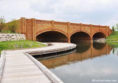 Bridge near Monon Center West in Carmel, Indiana