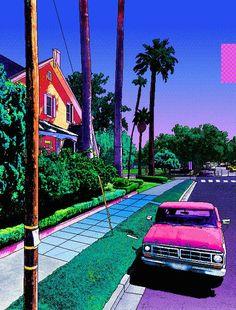 Pixel Art - Lifestyle Acrylic Tray by Rauros - Medium 15 x Psychedelic Art, Vaporwave Wallpaper, 8bit Art, Vaporwave Art, Neon Aesthetic, Retro Art, Trippy, Aesthetic Wallpapers, Wallpaper Backgrounds