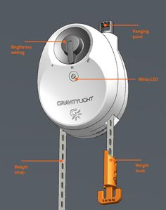 Here's+A+Bright+Idea:+GravityLight+Generates+Light+Without+Electricity+ ... see more at InventorSpot.com