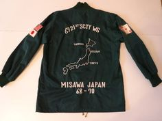 Vintage 1960s US Air Force 6921 USAF Security Service Japan Souvenir Tour Jacket | eBay