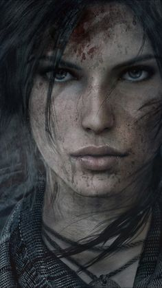 tomb raider lara croft face