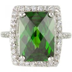 Victoria Beckham Inspired Cocktail Ring in Emerald Green $89.95