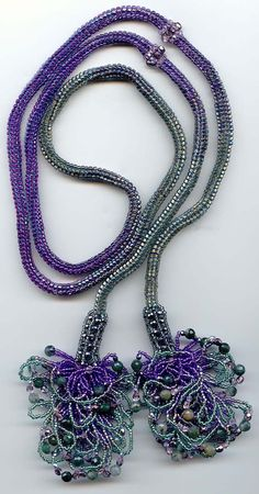 Bead Pattern & Beads Lariat Necklace