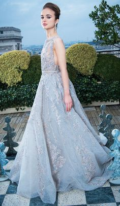 royalwatcher:  Lady Amelia Windsor, younger daughter of the Earl and Countess of St. Andrews and granddaughter of the Duke and Duchess of Kent, dressed in Elie Saab for the Paris Debutante Ball, November 30, 2013
