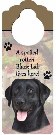 Black Lab Dog Door Knob Hanger available at www.DogLoverStore.com