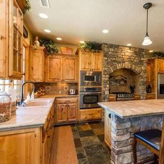 Facts, Fiction and Beautiful Rustic Kitchens ( Design Ideas ) If you wish to plan and design your kitchen entirely without the aid of a designer or ar. Galley Kitchen Design, Rustic Kitchen Design, Rustic Kitchens, Home Design, Design Ideas, Stock Kitchen Cabinets, 1920s Interior Design, Hgtv Dream Homes, Craftsman Kitchen