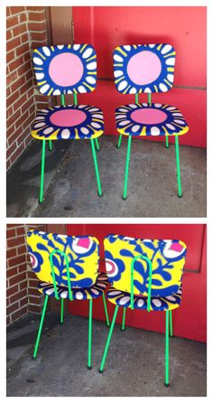 Mid-Century Graphic Chairs by Junk2Funk