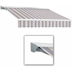 Destin-LX with Hood Manual Retractable Awning, 16 ft.W x 10 ft.Proj, Multicolor