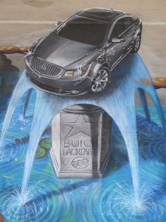 3d Buick LaCrosse street painting - tracy lee stum | Flickr - Photo Sharing!