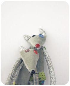 patchwork fox toy for child. $40.00, via Etsy.