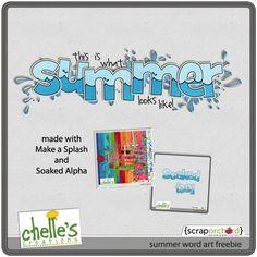 6.15 Summer Word Art Freebee - Chelles Creations  CD# 19