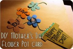 Potted flower hanging picture card - 15 Easy Ideas for Mothers Day Cards Kids Can Make - ParentMap