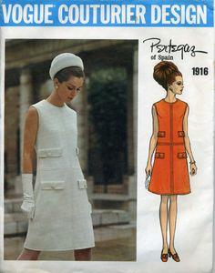 Vogue Couturier Design 1916 Pertegaz Late 60's Mod