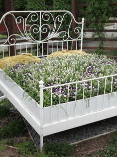 Ein Bett als Hochbeet