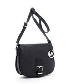 MICHAEL Michael Kors Medium Saddle Bag Messenger, Black