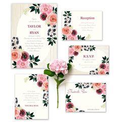 Pretty floral invite