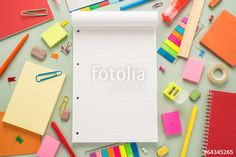 "Download the royalty-free photo ""School office supplies"" created by slava at the lowest price on Fotolia.com. Browse our cheap image bank online to find the perfect stock photo for your marketing projects!"