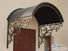 Pergola Over Front Door Iron Windows, Iron Doors, Iron Gates, Eisen Pergola, Wrought Iron Decor, Pergola Garden, Garden Gates, Backyard, Door Canopy