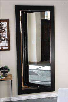 Add walk in closet in small room: door is the mirror Easily hide an entire room or closet with our pre-assembled hidden mirror door. Use the same solution celebrities & CEOs use. Locking security included.