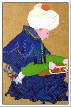 Oturan sanatçı (Seated artist) Sinan Bey yıl.1480