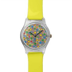 Outlined Polka Dots Watch