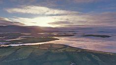 Clew Bay at dusk Dji Drone, Dusk, Ireland, Mountains, Nature, Travel, Naturaleza, Trips, Viajes