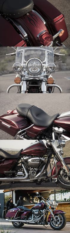 A timeless classic built for today. Stripped down, nostalgic style meets the performance and versatility of a modern H-D touring machine with the power of the all-new Milwaukee Eight 107 engine.   2017 Harley-Davidson Road King