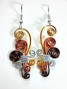 Cascading Spirals Hypo Allergenic Earrings by melissawoods on Etsy, $15.00