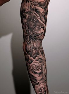 tattoos lion family tattoo on upper back lion face tattoo on arm lion ...
