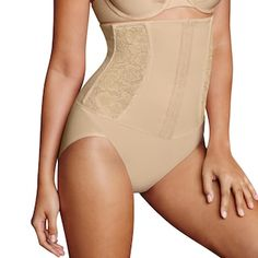 Maidenform Shapewear Firm Foundations Waist Nipping Brief Shaping Panty Waist Trainer Before And After, Full Body Shaper, Women's Shapewear, Lady In Red, Kohls, Clothes, Outfits, Flawless Foundation, Shopping