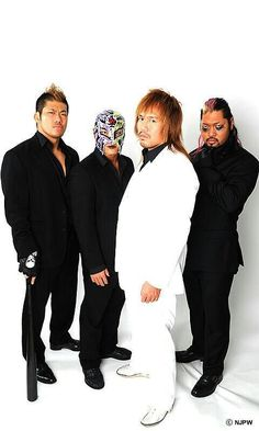 Evil, Bushi, Sanada and Naito--Los Ingobernables de Japon before The Ticking Time Bomb was added. Japan Pro Wrestling, Kenny Omega, Sports, Lucha Libre, Hs Sports, Sport