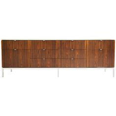 Florence Knoll Rosewood and Marble Credenza for Knoll Associates, ca.1976