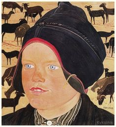 Ernest Biéler (1863 - 1948), Swiss painter.