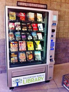 Vending library. Cool!