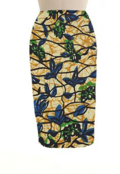 african-print-pencil-skirt this would look lovely with a white shirt with frills. love it!