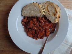 Smoky sweet potato & mixed bean stew.